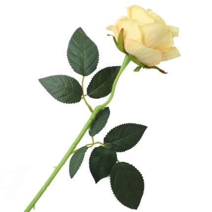 """Цветок искусственный """"Роза вельвет"""" 50см св. желтый"""