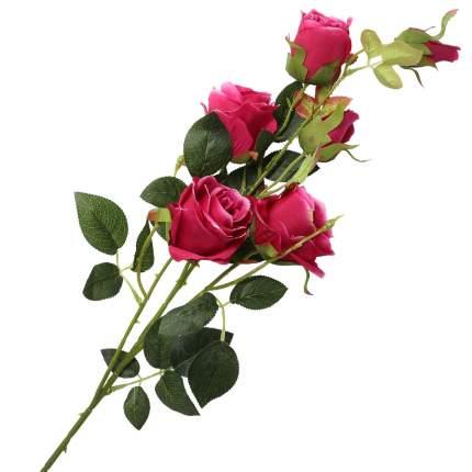 """Цветок искусственный """"Кустовая роза"""" 95см фуксия"""