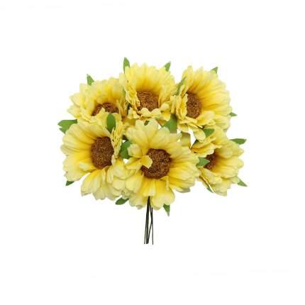 Букетик декоративный 6см, 6шт/упак желтый
