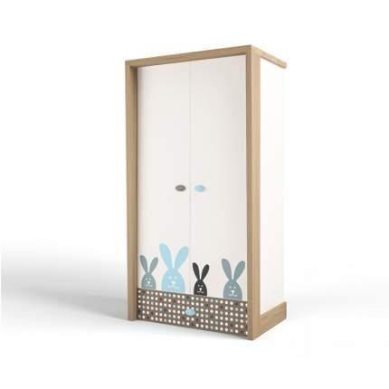 Шкаф ABC-KING  2х дверный MIX BUNNY (голубой)