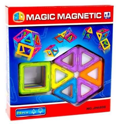 Конструктор магнитный Рыжий кот Волшебные магниты, 14 деталей