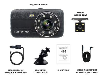 Видеорегистратор Вымпел H-28 ,170°,full hd,сенс.экран,камера заднего вида,G-сенсор