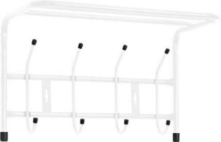 Вешалка настенная с полкой Ника ВП4 (4 крючка, 400х238х268мм) цвет-белый