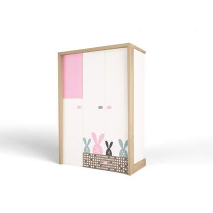 Шкаф ABC-KING  3х дверный MIX BUNNY (розовый)
