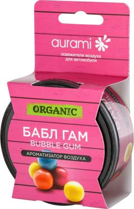 Ароматизатор на панель приборов меловой (bubble gum) AURAMI