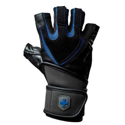Перчатки атлетические Harbinger Training WristWrap, black/blue, L/8,5