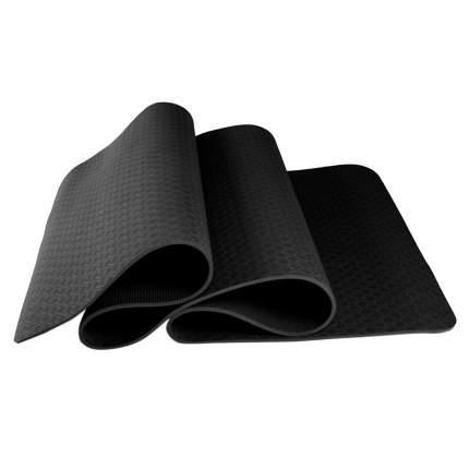 Коврик для йоги и фитнеса, толщина 0,6 см, черный, 183х61х0,6 см, Atlanterra AT-YM-11