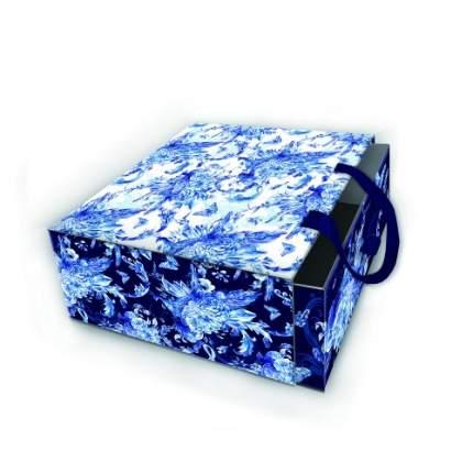 "Коробка подарочная ""Голубые цветы"", 18х18х9,5 см"