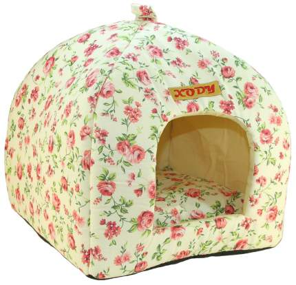 Домик для кошек и собак Xody Виг-Вам №1, хлопок, нежность, бежевый, 33x33x42см