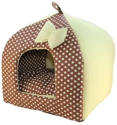 Домик для кошек и собак Xody Виг-Вам №1, хлопок, коричневый, 33x33x42см