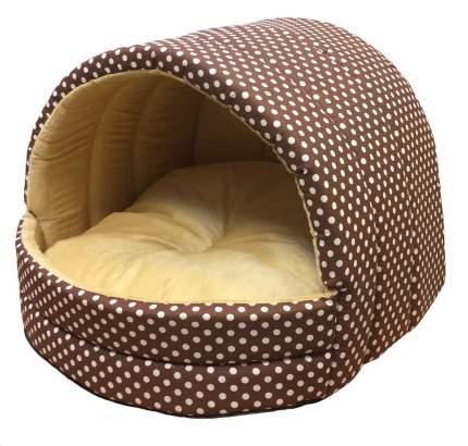Домик для кошек и собак Xody Эстрада №1, хлопок, коричневый, 41x30x36см