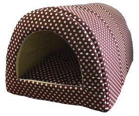 Домик для кошек и собак Xody Тоннель №1, хлопок, коричневый, 50x36x30см