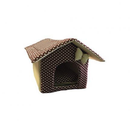 Домик для кошек и собак Xody Будка №2, хлопок, коричневый, 50x32x30см