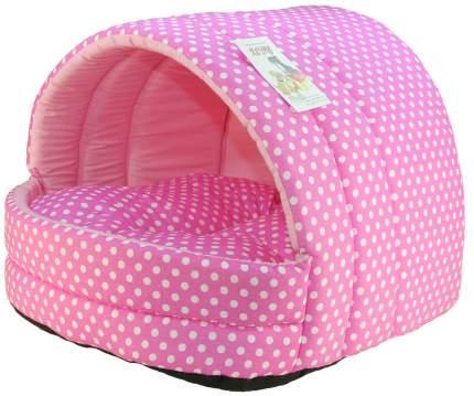 Домик для кошек и собак Xody Эстрада №2, хлопок, розовый, 44x40x50см