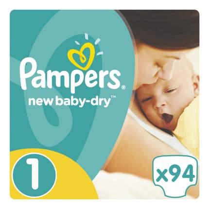 Подгузники для новорожденных Pampers New Baby-Dry newborn (2-5 кг), 94 шт.