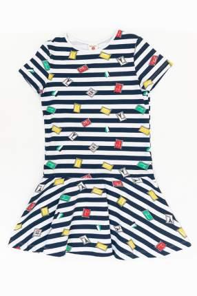 Платье Button Blue для девочек, цв. синий, р-р 134