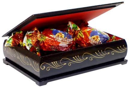 Чернослив Кремлина шоколадный с грецким орехом в сувенирной шкатулке Белка 150 г