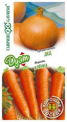 "Семена. Лук репчатый ""Дед"" (вес: 0,5 г) + морковь ""Аленка"" (вес: 2 г)"