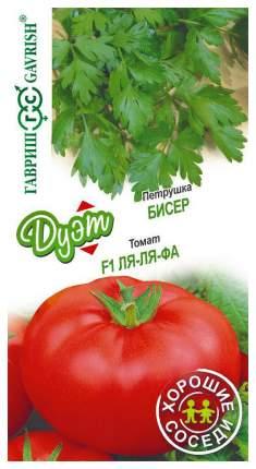 """Семена. Петрушка """"Бисер"""" (вес: 2 г)+томат """"Ля-ля-фа"""" (вес: 0,1 г), 10 пакетов"""