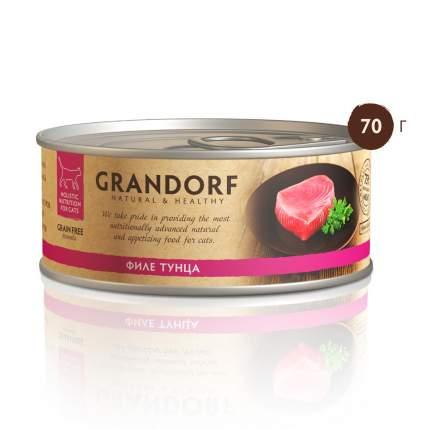 Консервы для кошек Grandorf, с филе тунца, 70г