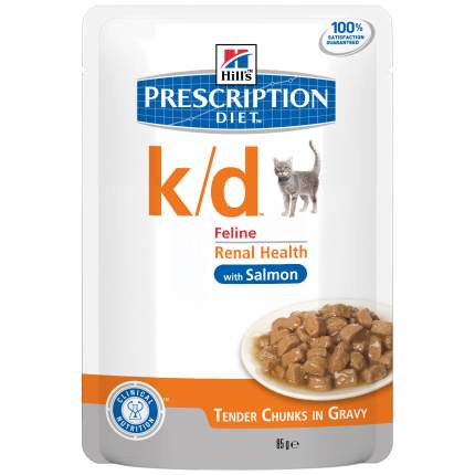 Влажный корм для кошек Hill's Prescription Diet k/d Kidney Care, лосось, 85г