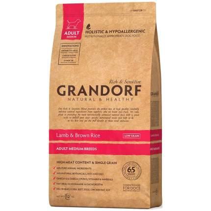 Сухой корм для собак Grandorf Adult Medium, ягненок, 3кг