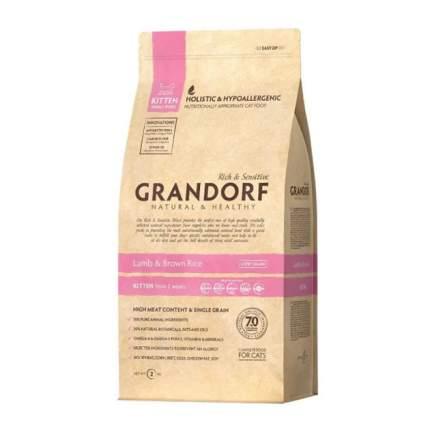 Сухой корм для котят Grandorf Natural & Healthy Kitten, ягненок, 2кг