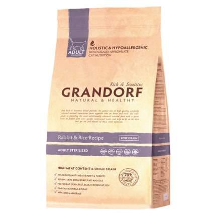 Сухой корм для кошек Grandorf Sterilised, для стерилизованных, кролик, 0,4кг