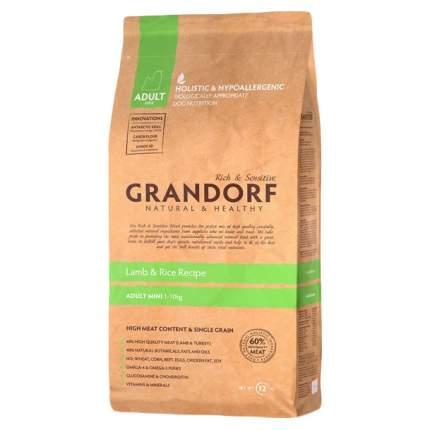 Сухой корм для собак Grandorf Adult Mini, ягненок, рис, 3кг