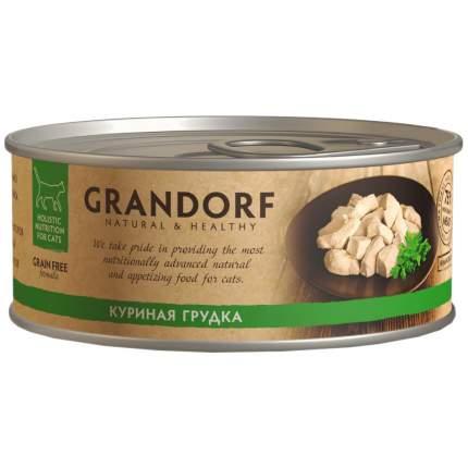 Консервы для кошек Grandorf, с куриной грудкой, 70г