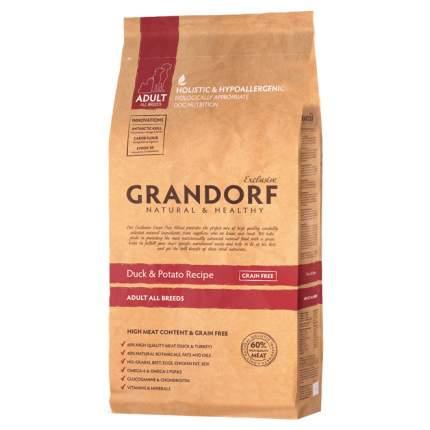 Сухой корм для собак Grandorf Adult All Breeds, утка, беззерновой, 12кг