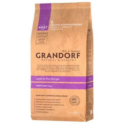 Сухой корм для собак Grandorf Adult Maxi, ягненок, 12кг