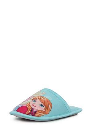 Тапочки детские Frozen, цв. голубой р.35