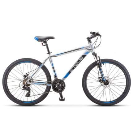 "Велосипед Stels Navigator 500 MD F010 2020 18"" серебристый ,синий"