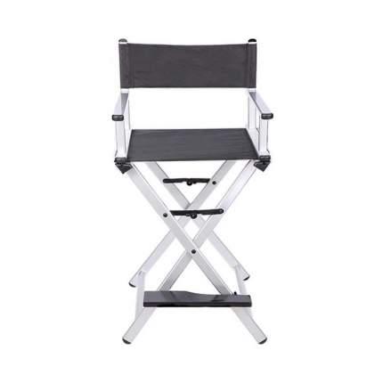 Разборный современный стул визажиста из алюминия OKIRO (серебристый)