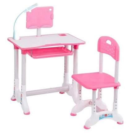 Набор детской мебели ASI accessories парта и стул Трансформер 60х40х71 см, розовый