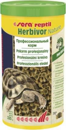 Корм для рептилий Sera Reptil Professional Herbivor, травы, 330г