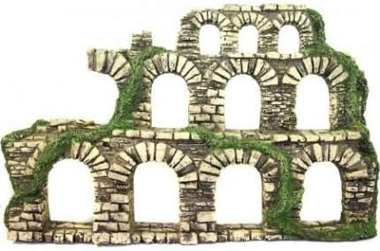 Декорация для аквариума Deksi Крепость 222, пластик, 40х25х8 см