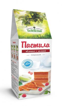 Пастила Белевская кондитерская мануфактура малина без сахара 250г