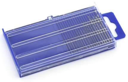 Мини-сверла JAS, диаметр 0,3 - 1,6 мм, набор, 20 шт., HSS М35, нет покрытия