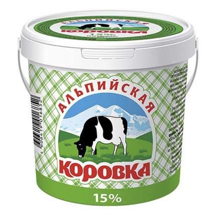 Молокосодержащий продукт Альпийская Коровка 15% 900 г