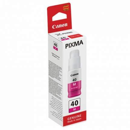 Чернила Canon GI-40M, пурпурный, оригинал (3401C001)