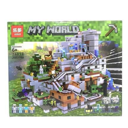 Конструктор Leduo Майнкрафт Горная пещера (Minecraft), 2688 деталей, My World