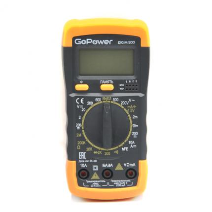 Портативный тестер мультиметр GoPower DigiM 500 00-00015325