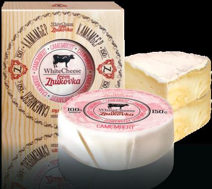 Сыр мягкий White Cheese from Zhukovka Камамбер с белой плесенью 50% 150 г бзмж