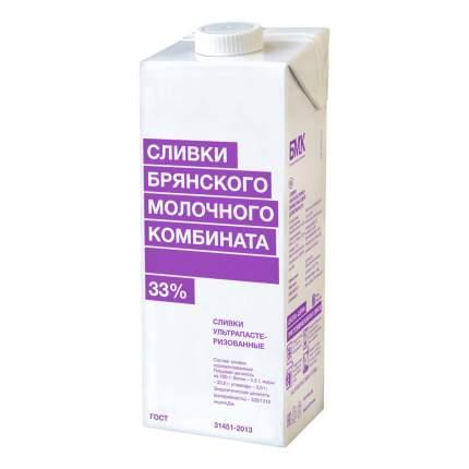 Сливки Брянский молочный комбинат ультрапастеризованные 33% бзмж 1 л