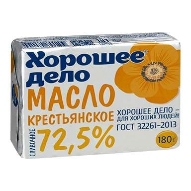 Масло Хорошее дело Крестьянское 72,5% бзмж 180 г