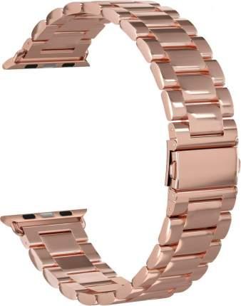 Ремешок стальной GSMIN Classic Collection для Apple Watch 38/40mm (Розовое золото)