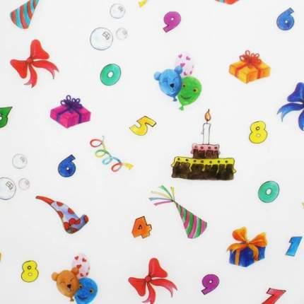 """Транспарентная бумага """"День рождения"""", 115г/м², 50,5х70см Folia"""