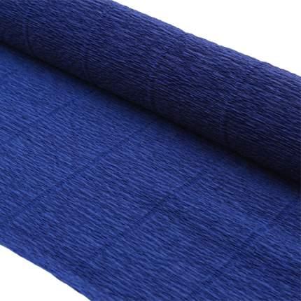 Бумага гофрированная простая 50см*2,5м 140гр 955 темно-синяя